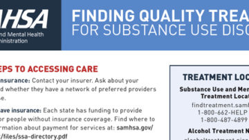 Finding Quality Treatment for Substance Use Disorders (SAMHSA)